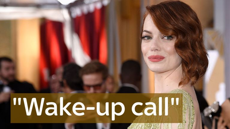 Trump's elections was 'incredibly painful' and a 'wake-up call' according to Emma Stone.