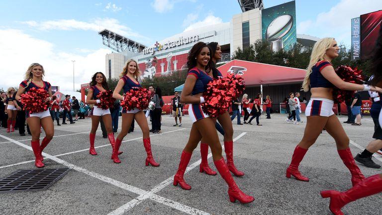 Houston Texans Cheerleaders perform for fans