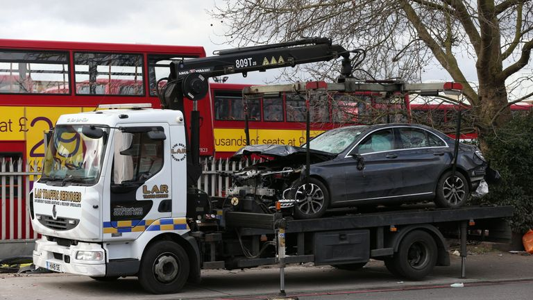 The car has now been removed from the scenes and investigations are under way