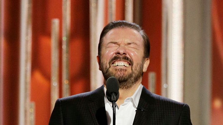 Gervais also became a star Stateside and hosted the Golden Globes three times