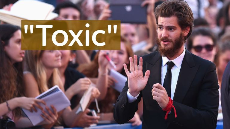 Andrew Garfield once spoke about 'the sickness, the toxicity, that is eminating out of his every pore'.