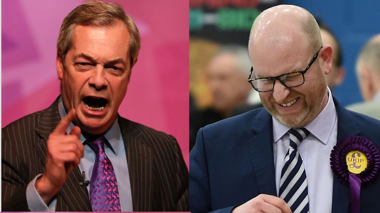 Mr Farage claimed the UKIP leader's message was too 'mainstream'