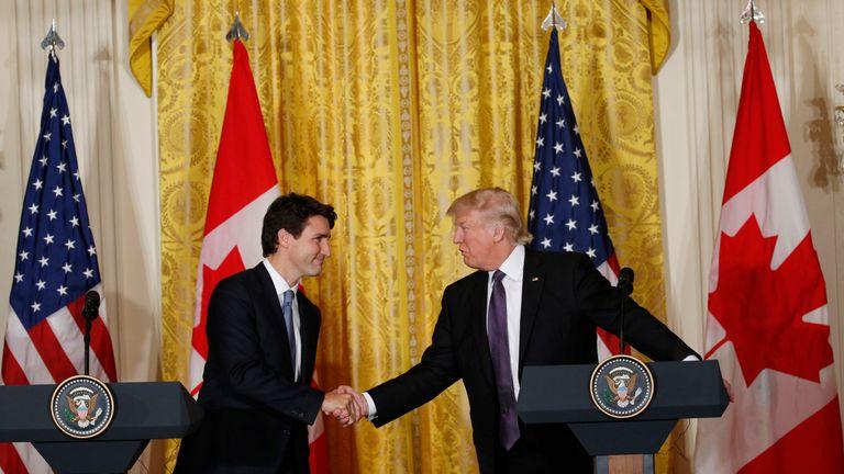 Justin Trudeau and Donald Trump
