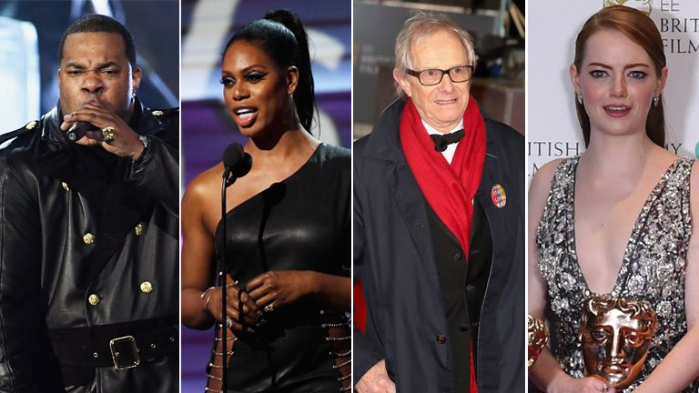 Busta Rhymes, Laverne Cox, Ken Loach and Emma Stone were amongst the most politically-charged