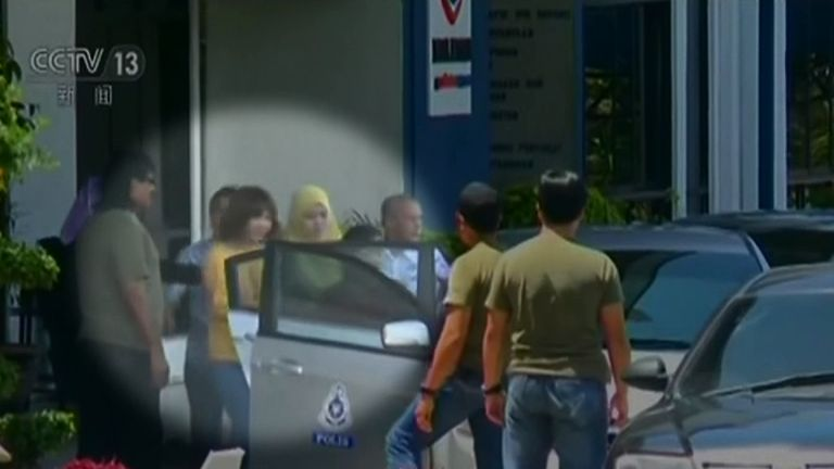 One of the suspects in the killing of Kim Jong-un's half brother. Pic: CCTV