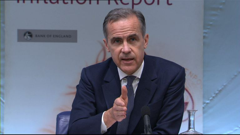Mark Carney led the Bank of England's news conference