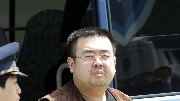 A man, believed to be Kim Jong-nam, pictured in 2001