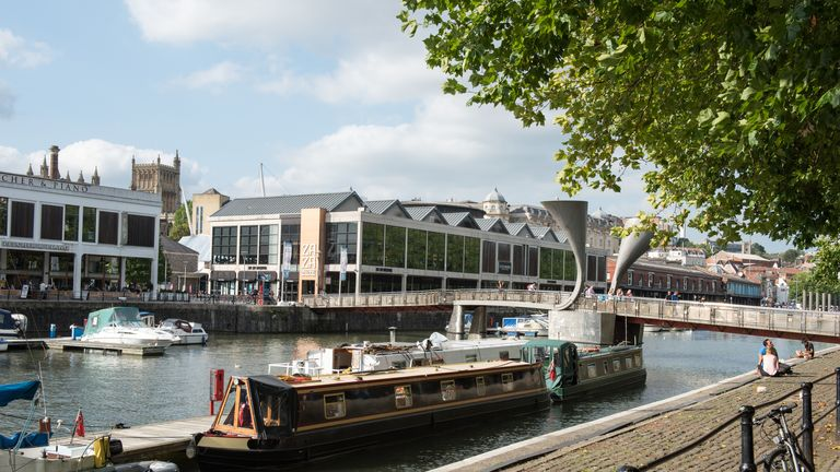 The body of a man was found in the Floating Harbour in Bristol City Centre. Pic: File
