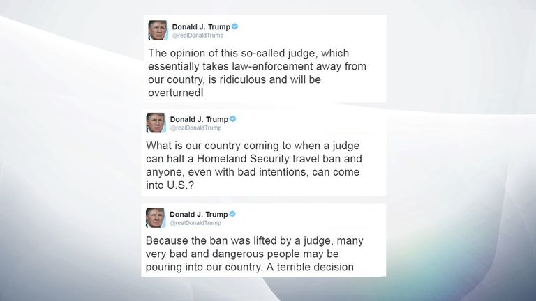 Donald Trump launched an unusual attack on the judge behind the ruling