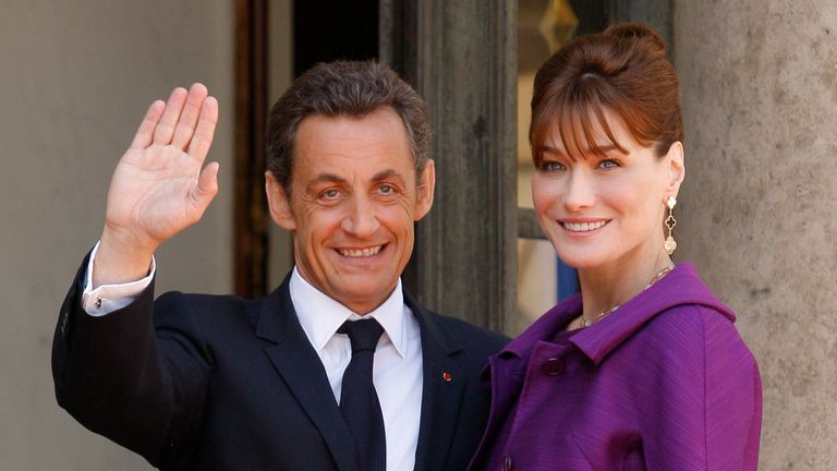 Nicolas Sarkozy and Carla Bruni in 2008