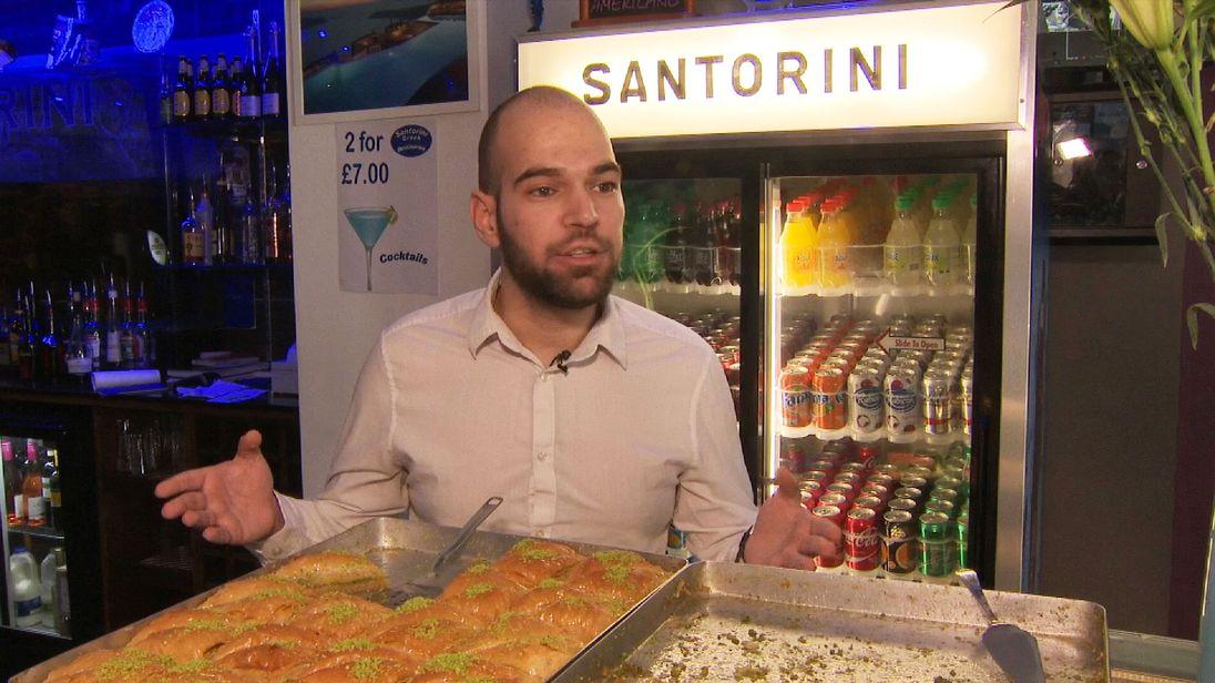Waiter Konstantinos Lambrakis