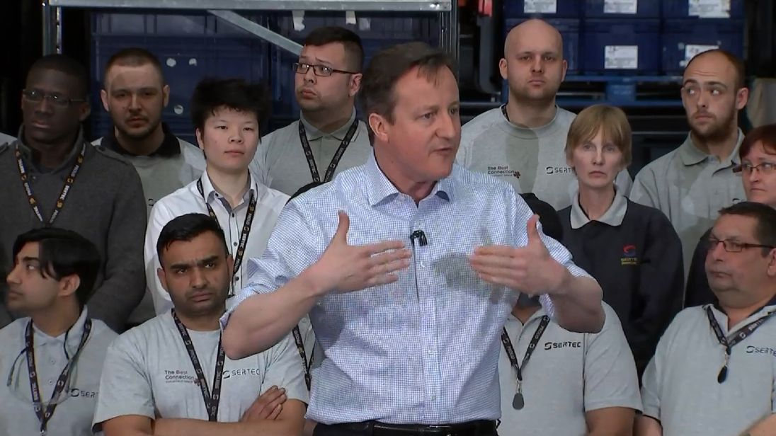 David Cameron on the campaign trail in 2015