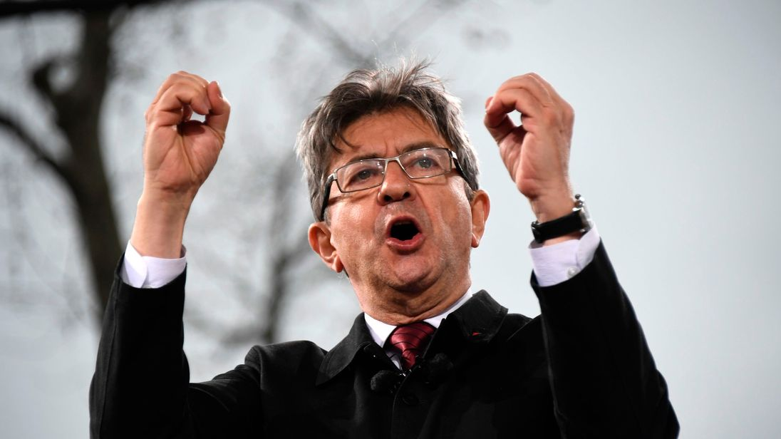 Jean-Luc Melenchon,  candidate for the far-left coalition 'La France insoumise'