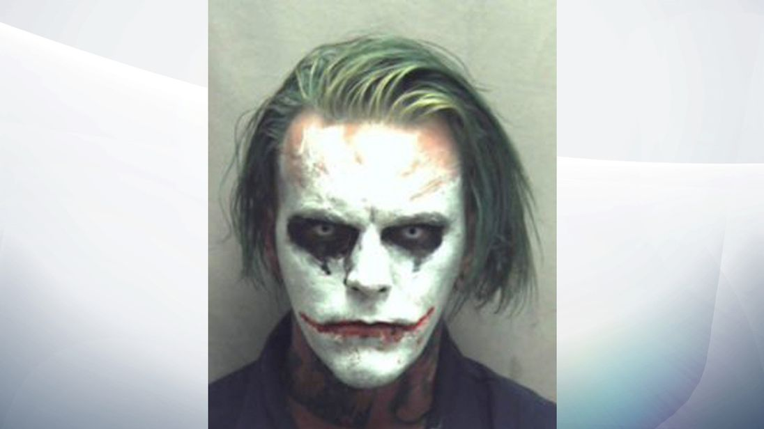Jeremy Putman, 31, is charged with wearing a mask in public