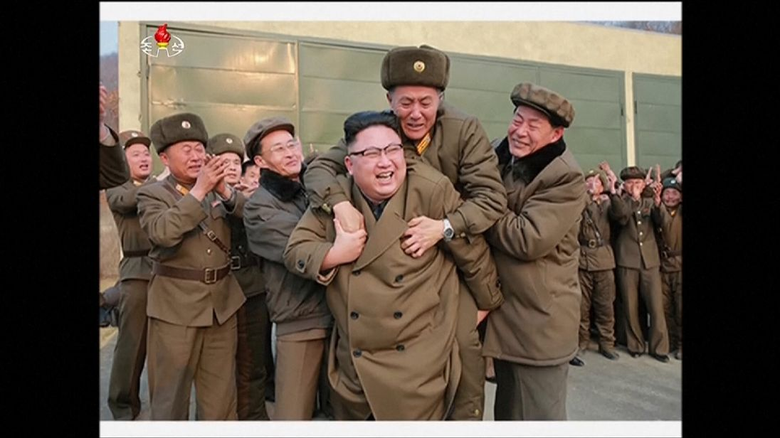 Kim Jong-un and his generals watched the test
