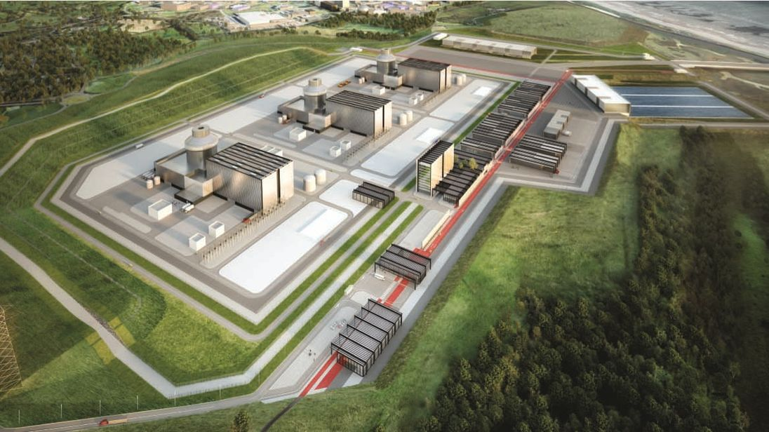 A mock-up of the planned Moorside plant. Pic: NuGen