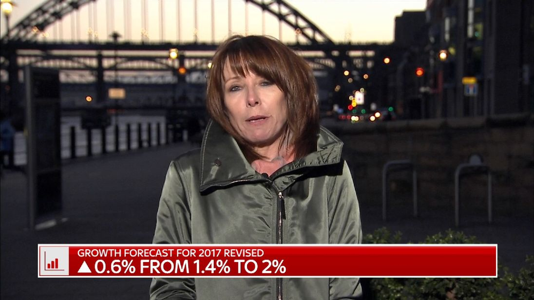 Sky's Kay Burley in Newcastle on Budget day