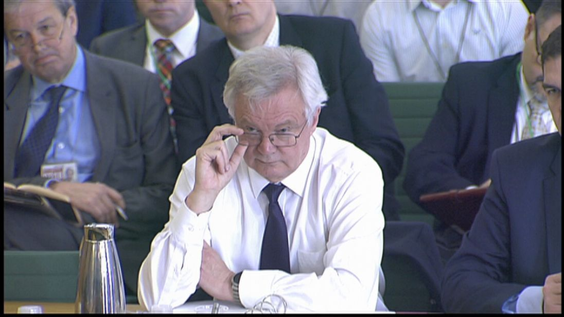 David Davis before the Brexit committee