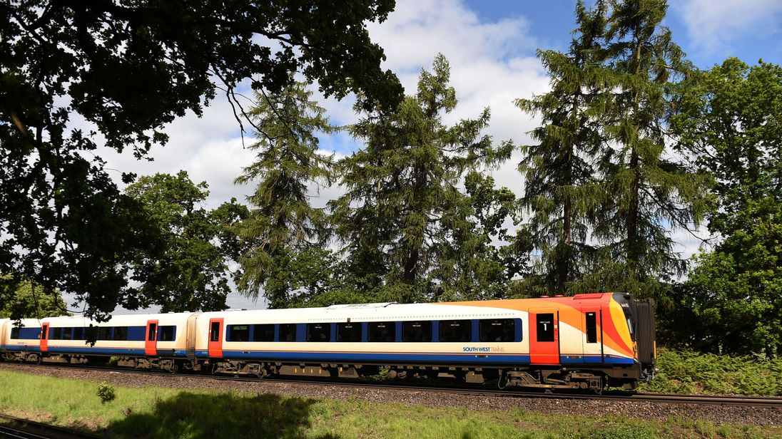 File photo dated 10/06/15 of a South West Trains train in Hampshire.