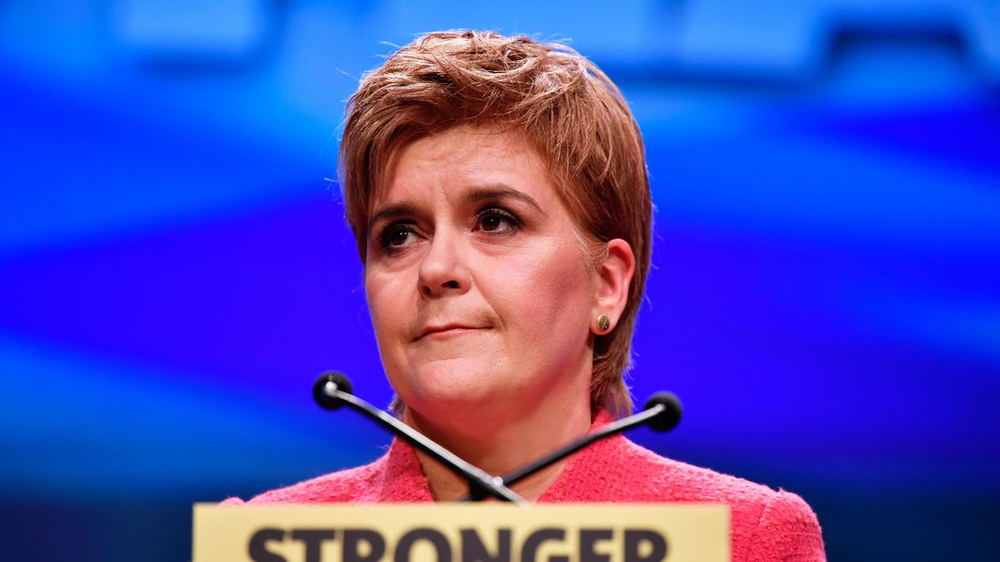 Nicola Sturgeon at the SNP Conference in Aberdeen