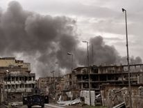 Destruction in West Mosul during the government-led offensive