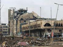 Destruction in the al-Dawasah neighbourhood