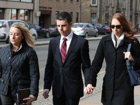 Pilot Paul Brady Grebenc arrives at Paisley Sheriff Court
