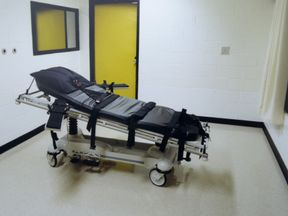 This undated photo shows the death chamber at the Georgia Diagnostic Prison in Jackson, GA