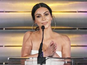 Kim Kardashian speaks at the Family Equality Council's Impact Awards