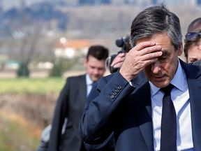 The latest polls suggest Francois Fillon is languishing in third place