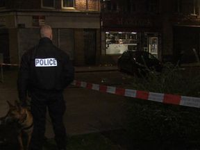 Police at the scene after the shooting