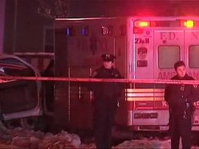 An emergency medical technician has died in New York after a man stole the ambulance she was driving and ran her over