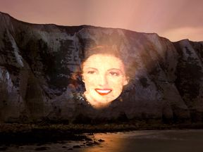 The Forces' sweetheart to be projected on the white cliffs of Dover