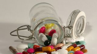 File photo illustration of pills of all kinds, shapes and colours, March 2003.