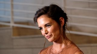 Actress Katie Holmes arrives at the Premiere of Reelz's 'The Kennedys After Camelot'