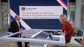 Liam Fox MP denies sending tweet about British history