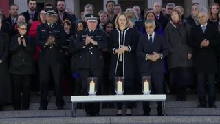 Huge crowds gather in Trafalgar Square to remember terror attack victims