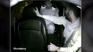An image from the dashcam video handed to Bloomberg