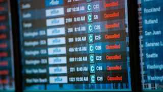 Thousands of flights have been cancelled on the US East Coast