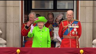 The Royals on the balcony at Buckingham Palace