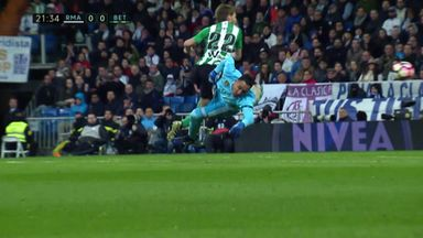 Should Navas have seen red?