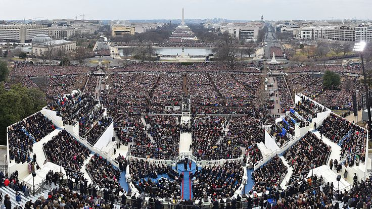 Crowds gathered for Donald Trump's inauguration