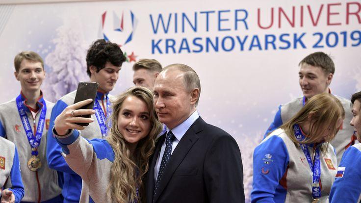 Vladimir Putin in Krasnoyarsk