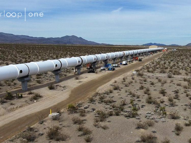 Hyperloop One's test track in the Nevada desert