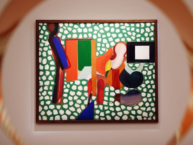 Anthony Hill and Gillian Wise by Howard Hodgkin