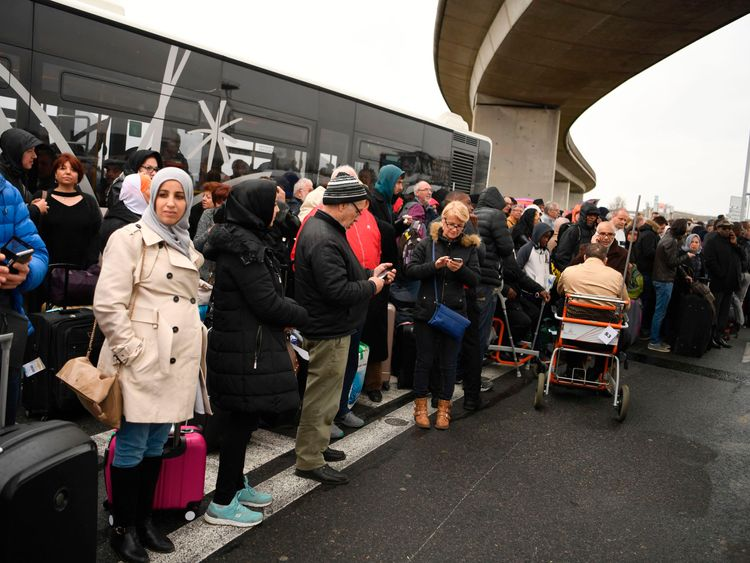 Thousands of travellers have been evacuated from the airport
