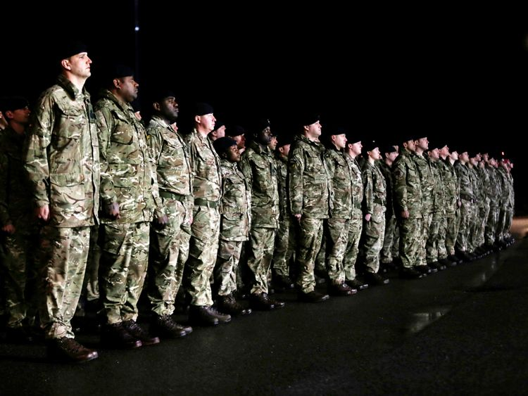 British soldiers, who are part of a NATO deterrent against Russia