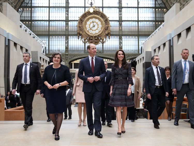 The Duke and Duchess of Cambridge were given a tour of the Musee d'Orsay