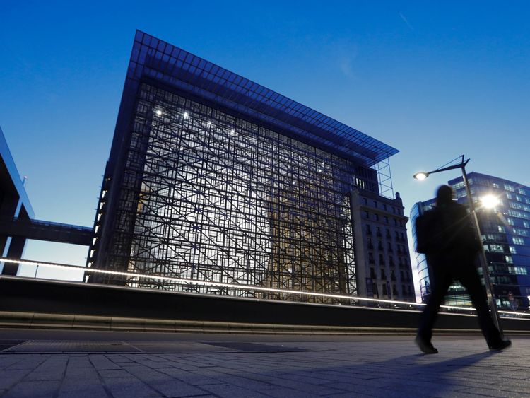 The new European Council building in Brussels, Belgium