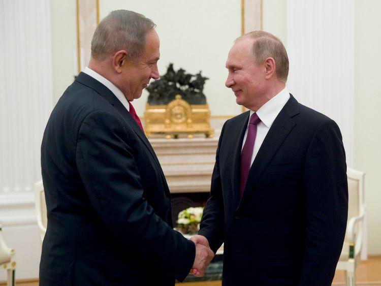 Israeli PM Benjamin Netanyahu met Vladimir Putin to discuss the Syrian conflict last week